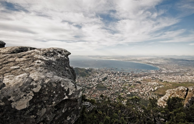 Udsigt over Cape Town fra Taffelbjerget (Table Mountain)
