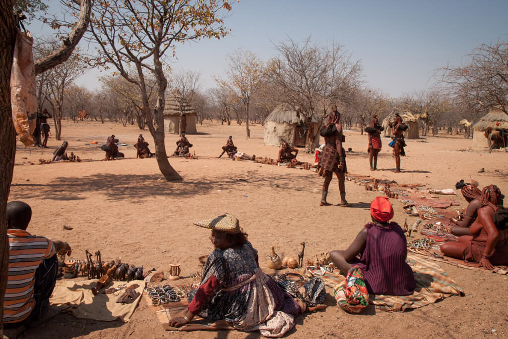 himba landsby, marked, Namibia